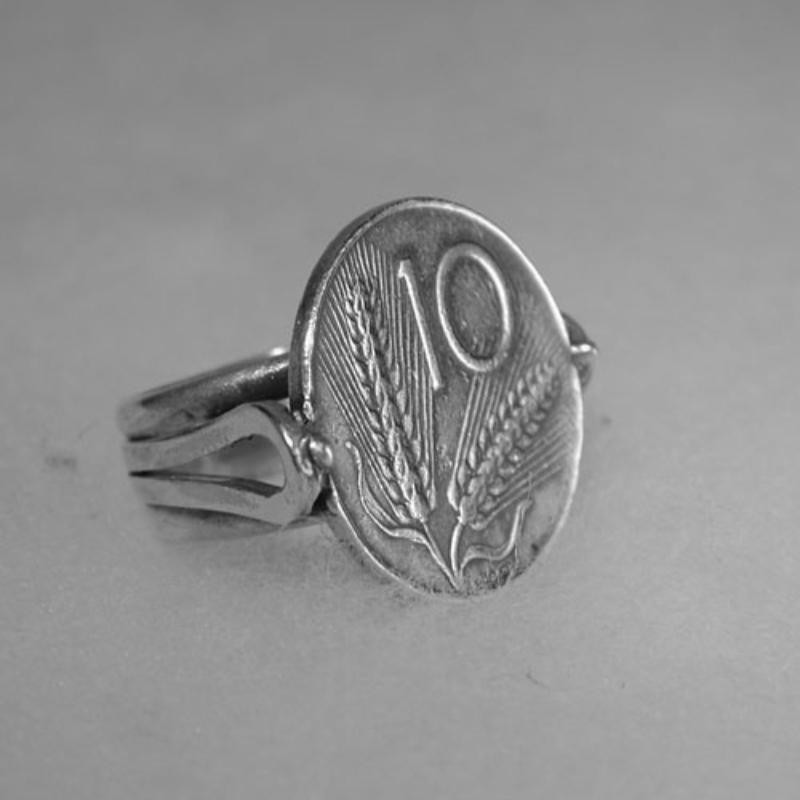 ring-silver-10-lire-coins-italian